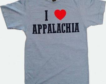 I Heart Appalachia T-Shirt - Heather Blue