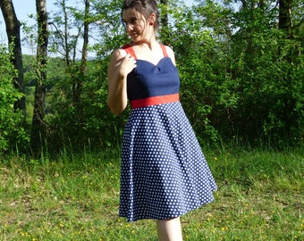 Vintage Nancy/Polka dot vintage dress polka dress