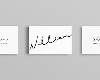 William Business Card Template