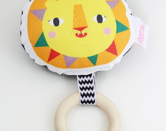 Lion Rattle Teether