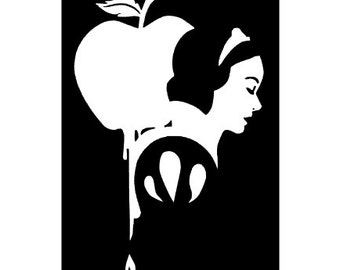 DISNEY- SNOW WHITE- Poison Apple; Quality Vinyl Decal; Disney Yeti Decals, Disney Car Decals, Christmas Gift for Disney fans, Fast Shipping!