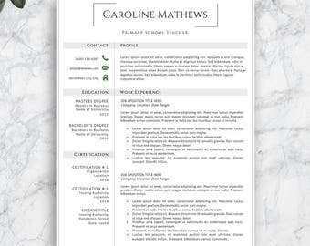 primary teacher resumes