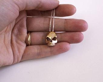 Skull Pendant - Skull necklace
