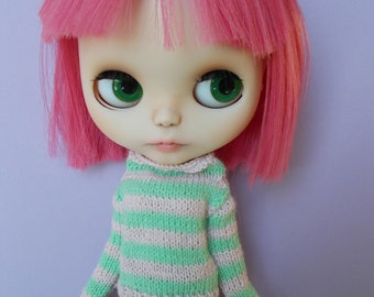 Handmade outfit pullover for any kind of dolls (momoko, barbie, fashion royalty, pullip, blythe, bjd...)