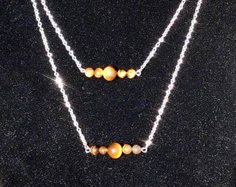 Tiger Eye Silver Plated Necklace