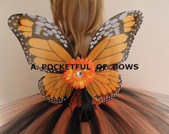 Butterfly Tutu Dress, Butterfly Wings Orange and Black, Monarch Butterfly Tutu Dress Costume