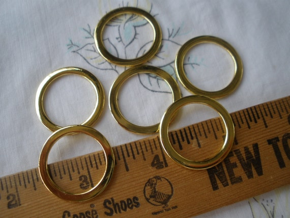 26mm metal flat O rings Gold or Silver Color Round 20mm