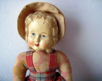 Vintage 1930s cloth Doll