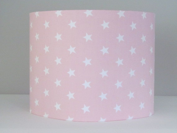 Handmade light baby pink white star lampshade 20cm 25cm 30cm handmade light baby pink white star lampshade 20cm 25cm 30cm lightshade girls nursery aloadofball Images