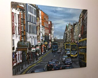 Original Large Oil Painting of Dublin - 40x30in