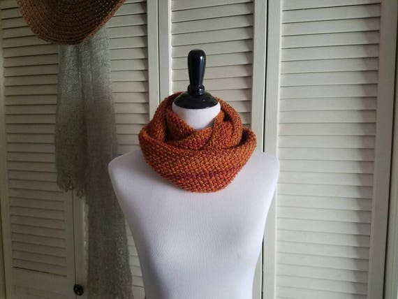 Orange Sunsets Cowl Infinity Scarf