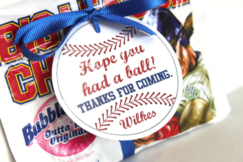 Baseball party tags vintage baseball baseball birthday