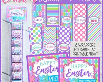 EASTER Chocolate Nugget Wrappers, Party Favor or Treat - Printable INSTANT Download