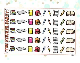 School Planner Stickers Doodle Stickers