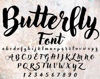 Cursive font | Etsy