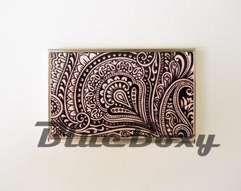 Vintage Pattern - Card Holder, Business Card Case, Credit Card Case