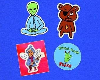 Stickers!! Winthrop Industries sticker pack (4 stickers)
