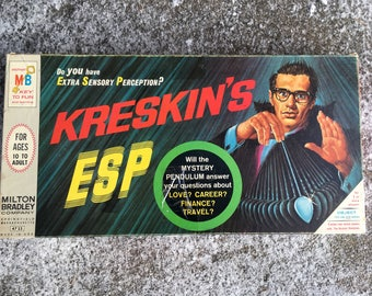 Complete Kreskins ESP Board Game with Extras Vintage Board Game Mid Century 1960s Fortune Telling Game The Amazing Kreskin Retro Family Game