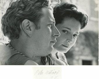 Peter Ustinov UK actor writer w actress Suzanne Cloutier vintage photo P Halsman