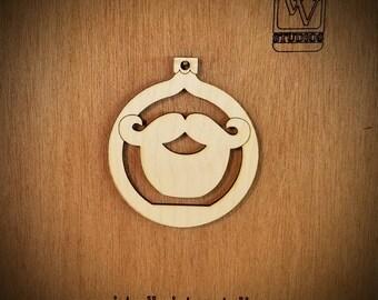 Verdi Beard Cutout Ornament