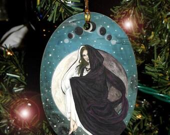 Lunar Eclipse Moon Goddess Yule Ornament