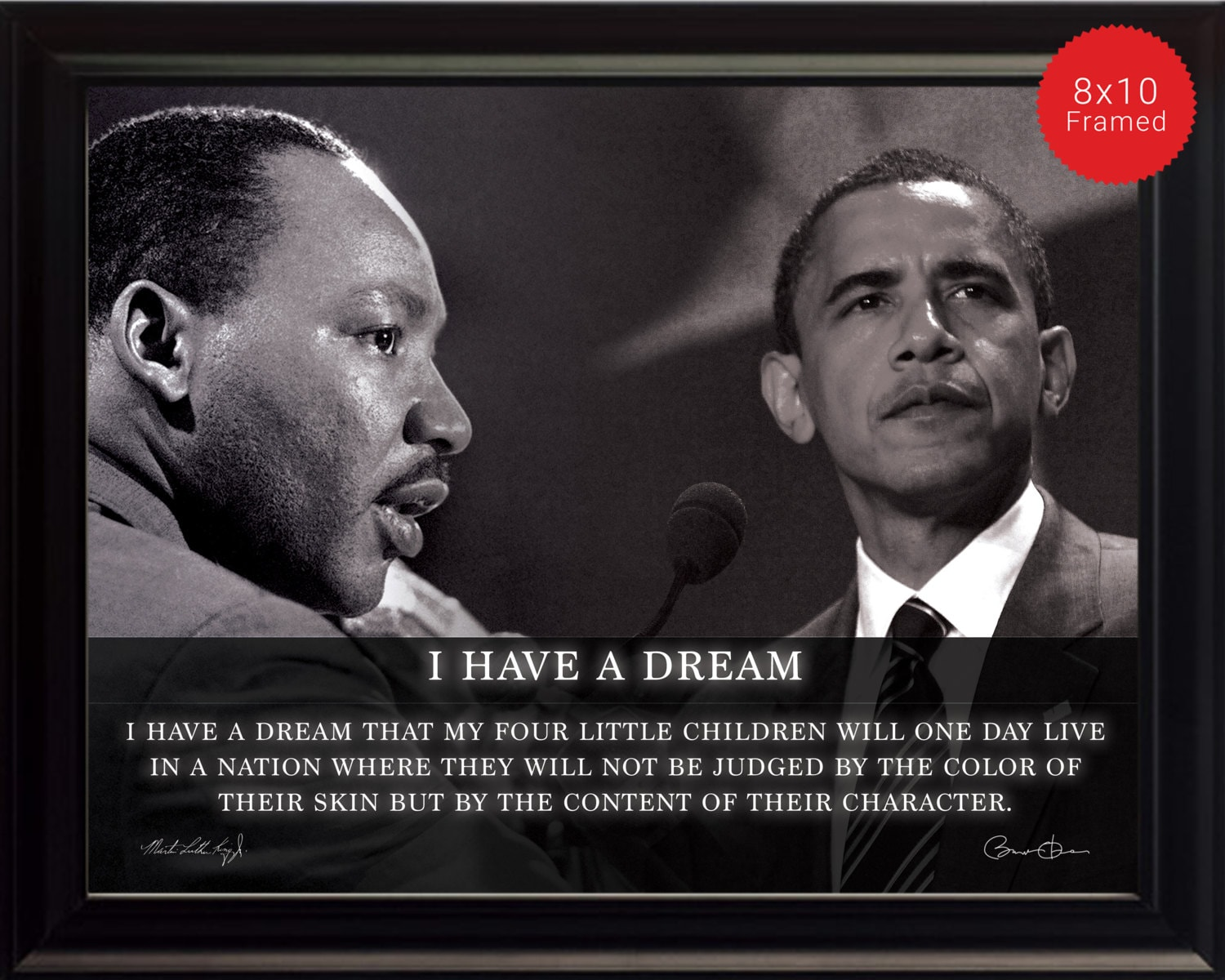 Martin Luther King Jr. Barack Obama Photo Picture Poster Or