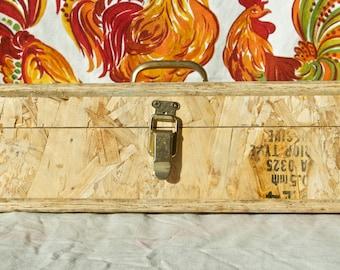 Vintage handmade wood box…folk art toolbox.