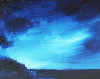 Nocturnal Seascape (original oil painting)