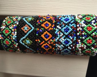 5 stretch Bracelets,Native American Style Seed Bead Bracelet, Indian Style Handmade Bracelet, Multicolor Bracelet, Seed Bead Jewelry