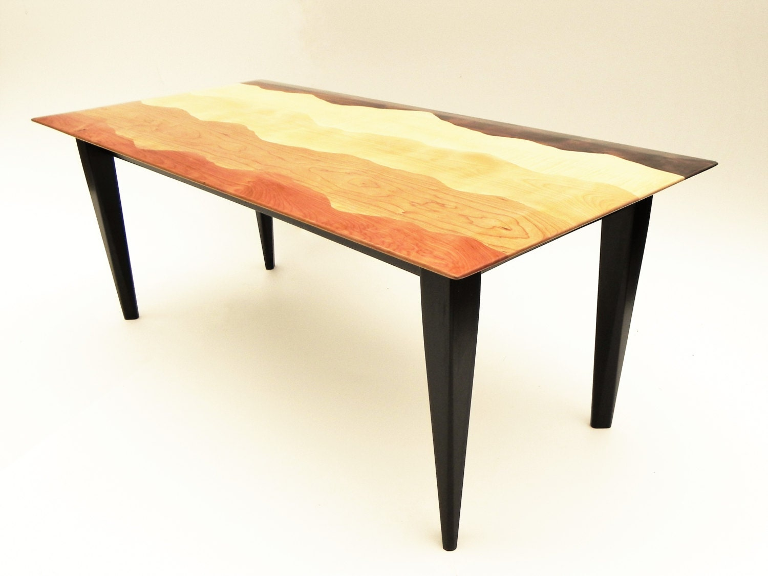 Superbe Mountain View Coffee Table /Black Walnut, Tiger Maple, Curly Birch, Cherry,  Red Birch, Ebonized Cherry/