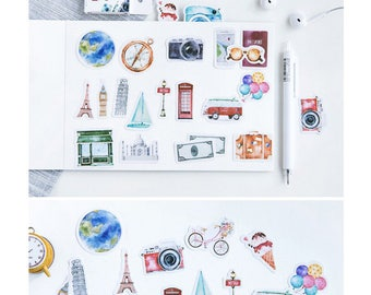 Travel Alone Stickers Pack SM232230 45pcs