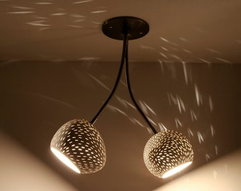 Ceiling Lamp: Double Headed Claylight