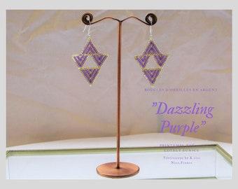 """""""Dazzling Purple"""" earrings"""