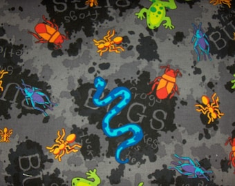 """100% Cotton Fabric BTY - """"Bugs"""""""