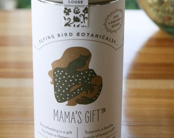0410 Mama's Gift Organic loose leaf herbal tea, supports a healthy supply of breast milk, hand-blended loose leaf organic herbs