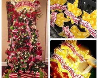 Christmas Tree Topper - Christmas Star - Christmas Tree Decor - Christmas Tree Decorations - Christmas Tree Star - Christmas Lights