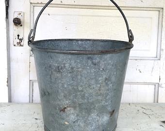 Vintage Metal Bucket Pail