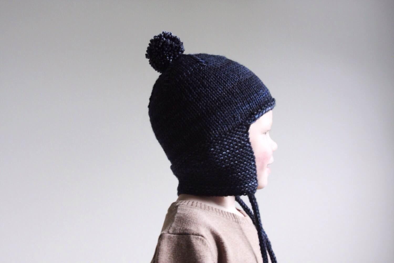 KNITTING PATTERN PDF File - Toddler Knit Hat Pattern - Toddler ...