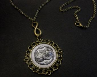 Karma Knot, nodo Karmico, Endless knot, Snake Ouroborus, Infinite Talisman