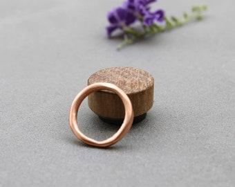 Rose Gold Wedding Band, Simple Wedding Band Women Rose Gold, Simple Rings for Women, Organic Wedding Ring Raw Rustic Rose Gold ring band