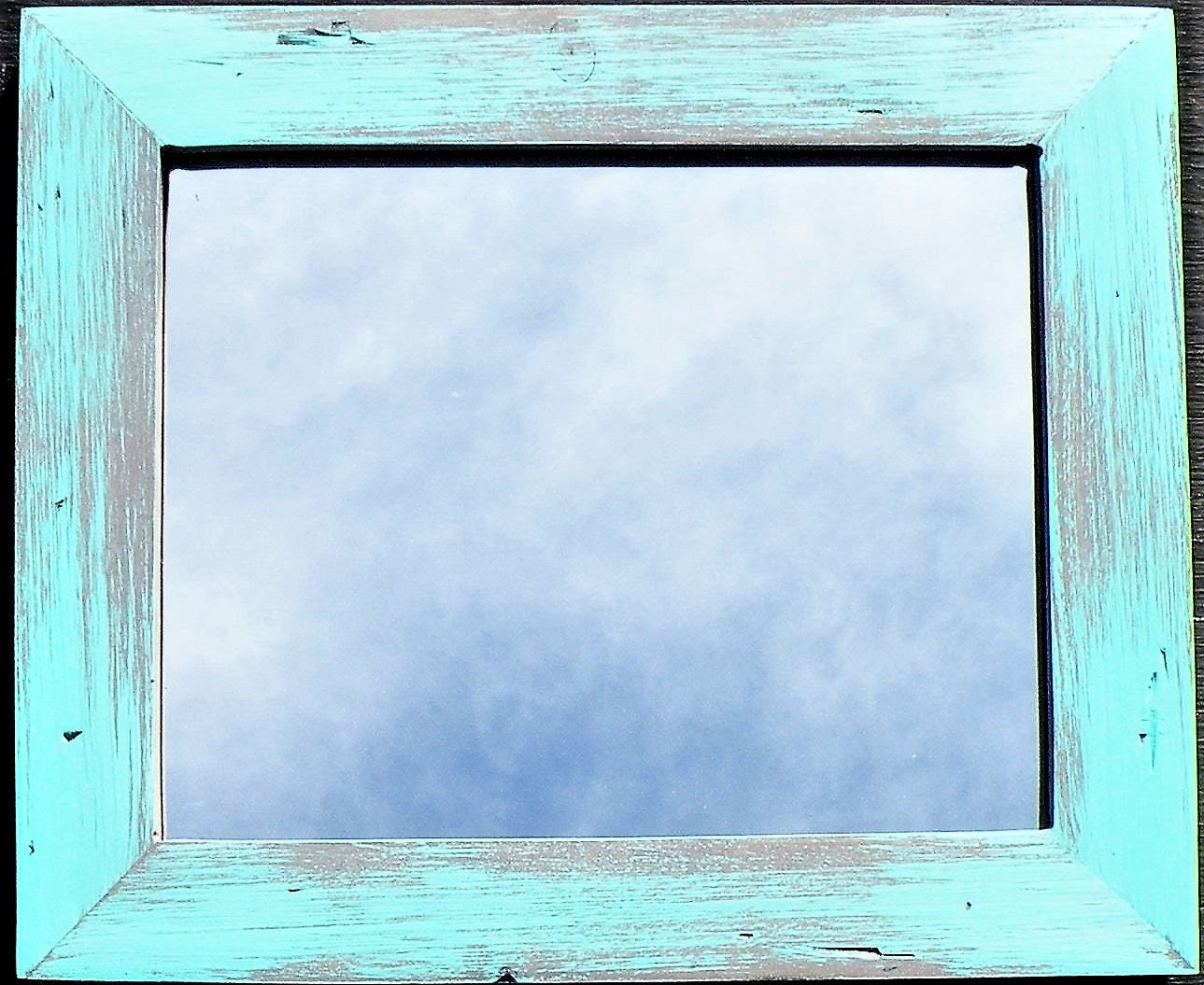 Rustic pine wood mint green picture frame barn wood style request a custom order and have something made just for you jeuxipadfo Images