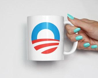 President Barack Obama 2008 Logo Coffee Mug | Yes We Can