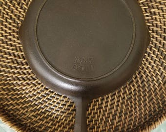 "Birmingham Stove and Range Century series ""BSR"" Cast Iron Skillet #5 with Heat Ring"