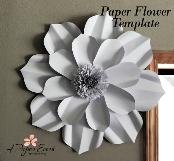 Paper flower template diy paper flower diy backdrop paper mightylinksfo