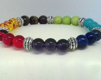 Chakra Bracelet - crystal bracelet - chakra crystals - healing bracelet - healing crystals - gemstone bracelet - crystal healing - 7 chakra