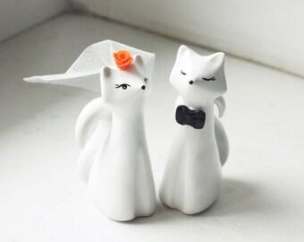 Wedding Cake Topper, Fox Cake Topper, Love Fox