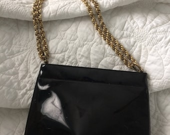 Coblenz Black Patent Leather Handbag