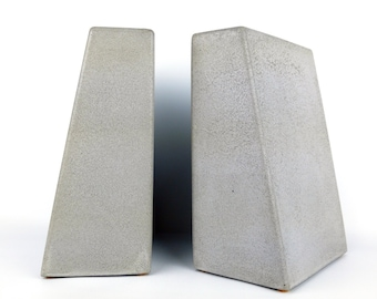 Bookends Concrete / Bookends Modern / Bookends Heavy / Office Bookends / Library Bookends / Paper Weight for Men / Book Holder Cement