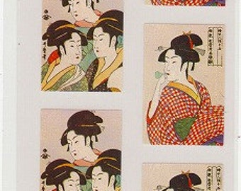 Ukiyoe Stickers - Japanese Stickers - Reference A3297-98A3710-11