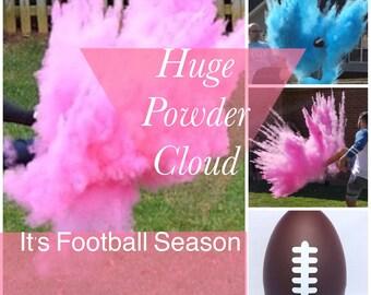 BOTH GENDERS FOOTBALL Gender Reveal Gender Reveal Ideas Football Reveal Gender Reveal Ball Gender Reveal Party Reveal Ball